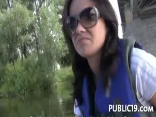 Amateur girl immovable with a shag in public